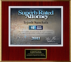 Avvo Superb Rated Attorney 2011