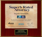 Avvo Superb Rated Attorney 2015