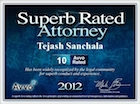Avvo Superb Rated Attorney 2012