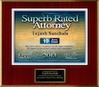 Avvo Superb Rated Attorney 2013